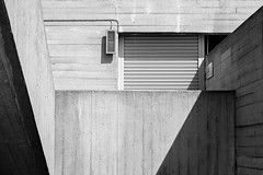 Brutal 2 (That James) Tags: london england uk britain city capital capitalcity nationaltheatre concretebuilding brutalist brutal brutalism newbrutalism architect architects architecture shapes shadows light concrete casted cast stairwell lasdun centrallondon southbank bankside publicbuilding 1960s 1970s shutters grills vent sign angles abstract geometric