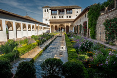 Alhambra Palace Granada Spain (Blackburn lad1) Tags: spain alhambrapalace garden building water tree grass sky architecture unesco whs xt20 fuji xf1855 courtyard