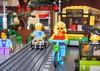Hot blonde on bike (sander_sloots) Tags: lego city moc girl minfig street bus hot blonde bike bicycle fiets stad blondine town citybus stadsbus traffic verkeer afol adult fan of