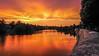 Orange (pi3rreo) Tags: bry coucherdesoleil soir fleuve sun soleil city ville urban urbain nature