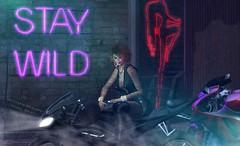 Snapshot_stay_wild (jeffresident) Tags: cristy jeff jeffferie everwinter wild sexy sassy beauty motorbike outdoor redhead cigi fog mesh latex boots maitreya laq