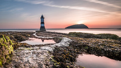 Trwyn Du Lighthouse on Penmon Point (Nathan J Hammonds) Tags: anglesey island lighthouse trwyn du wales uk sunrise rocks sea seascape landscape water morning summer early start warm coast nikon d750 nd filter 10stop colour sky path puffin isand