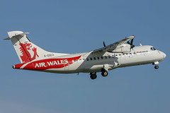 Air Wales - ATR 42-300 G-SSEA @ Cardiff (Shaun Grist) Tags: gssea aw airwales atr42 shaungrist cwl egff cardiff cardiffairport cardiffrhoose rhoose wales airport aircraft aviation aeroplanes airline avgeek