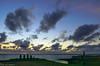 Sunset at Ahu Tahai / Закат на Аху Тахаи (Vladimir Zhdanov) Tags: travel chile sky polynesia easterisland rapanui hangaroa ahutahai cloud sunset ocean water wave landscape nature people moai sculpture