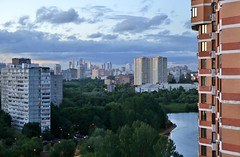 tonight (vitalsimonovjb) Tags: moscow russia summer landscape nature river lake forest architecture ochakovo