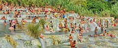 Cascade of people (gerard eder) Tags: world travel reise viajes europa europe italy italia italien tuscany toscana toskana saturnia thermalsprings thermal wasser water paisajes panorama peopleoftheworld people landscape landschaft natur nature naturaleza outdoor