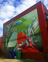 Insect Catcher (wiredforlego) Tags: graffiti mural streetart urbanart aerosolart publicart portland oregon pdx seak daim joker