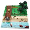 242c (Brickolaje) Tags: chiloé minga tiradura casa chile lego diorama beach sea tree forest árbol árboles bosque playa mar