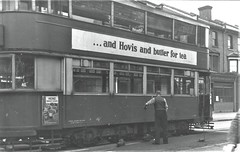 London transport E3 class tram on route 40 Lee Green circa 1951. (Ledlon89) Tags: trams tram tramway londontrams london transport lt lte londontransport woolwich newcross southlondon selondon southeastlondon electrictransport 1951 1950s