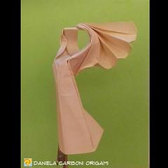 "Origami Challenge 44/365 ""Nike di Samotracia"" Modello creato oggi. ------------------------------------------- ""Nike of Samothrace"" Model created today.  #origami #cartapiegata #paperfolding #papiroflexia  #paper #paperart #createdandfolded #originaldesig (Nocciola_) Tags: samotracia nike paperart cartapiegata createdandfolded papiroflexia paperfolding originaldesign danielacarboniorigami paper origami samothrace"
