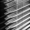 Light through a window (docoverachiever) Tags: lines squareformat window shade diagonal texture geometric blackandwhite fabric light