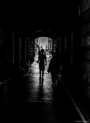 Tunnel of No Return ©2018 Steven Karp (kartofish) Tags: tunnel passage passageway cityhall philadelphia pennsylvania fuji fujifilm x100 blackandwhite marketstreet centercity