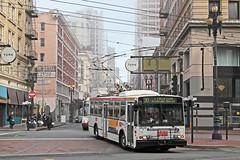 MUNI Nr. 5639 Market & Mason St (Bus und Bahn by SF) Tags: skoda eti 14trsf kiepe muni sanfrancisco trolleybus obus oberleitungsbus filobus