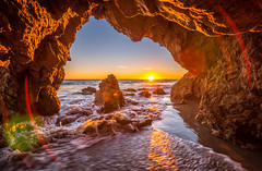 Malibu California Ocean & Beach Sea Cave Sunset Dusk! Pacific Sunset Beautiful Vista Views! Nikon D810 & Sharp AF-S NIKKOR 14-24mm F2.8G ED Lens from Nikon Wide Angle Zoom! Long Exposure Fine Art Landscape Seascape HDR Photography! Elliot McGucken Photos! (45SURF Hero's Odyssey Mythology Landscapes & Godde) Tags: malibu california ocean beach sea cave sunset dusk blue hour beautiful vista views nikon d810 sharp afs nikkor 1424mm f28g ed lens from wide angle zoom long exposure fine art landscape seascape hdr photography elliot mcgucken photos pacific