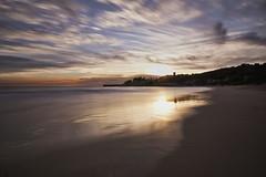 La Mora beach sunset (muntsa-joan-color) Tags: sunset sky sea atardecer mar water costa cielo clouds nubes catalonia playa puesta paisaje