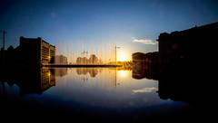 Life Is Only a Reflection of What We Allow Ourselves to See (KC Mike Day) Tags: fountain reflection henrybloch sunset sunburst