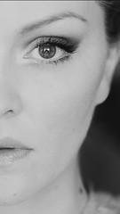 EYE (Sophie Harrysson) Tags: selfportrait naturallight blackandwhite eye stockholm sweden love sophieharrysson photography onehalf
