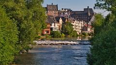 Marburg / Lahn (Holgi_BS_63) Tags: marburg hessen baum wasser lahn fluss river deutschland germany hassia oberstadt altstadt gebäude building himmel sky