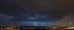 Thunderstorm (rockheadz) Tags: thunderstorm gewitter lightning blitz clouds wolken landscape landschaft nightshoot nacht night colorfull