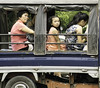Back of a Lorry (Beegee49) Tags: street people sitting passengers truck filipina girl bacolod city philippines