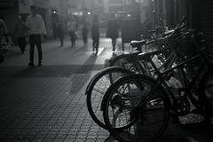 bokeh people@Ueno, Tokyo (Amselchen) Tags: light shadow blackandwhite bnw mono street travel tokyo japan bicycle bokeh blur dof depthoffield fujifilm fujifilmxseries xt2 fujinon xf35mmf14r fujifilmxt2