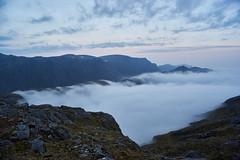 Rising Above the Fog (Donald Beaton) Tags: uk scotland highlands fisherfield letterewe beinn lair tharsuinn chaol gorm loch mor mist fog landscape view scene scenery ecosse schottland escocia sony a7 olympus zuiko 21mm