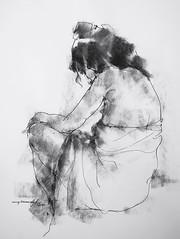 P1018259 (Gasheh) Tags: art painting drawing sketch figure portrait girl line pen charcoal gasheh 2018