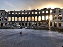 Stroll (aiva.) Tags: croatia istria pula hrvatska adriatic arena architecture coliseum jadran istra balkan amphitheater sunset ruins antic