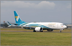 IMG_1013FL10 (Gerry McL) Tags: oman air boeing 737 max8 8 a4omc glasgow scotland gla egpf aircraft airplane jet ferry delivery