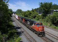 CN 324 (Michael Berry Railfan) Tags: cn324 cn canadiannational train freighttrain ge generalelectric gevo es44dc villestpierre lachine montreal montrealsub quebec cn8878 cn2227 sd70m2 emd gmd