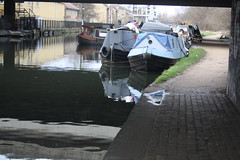 Barges (lazy south's travels) Tags: london stratford hackney wick england english britain british uk barge house canal tow path riverlee industrial urban capital city