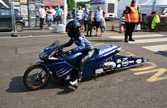 Junior Drag Bike_0633 (Fast an' Bulbous) Tags: racebike motorcycle moto bike biker dragbike santapod drag strip race track pits fast speed power acceleration motorsport nikon outdoor d7100 gimp