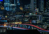 mission creek overpass (pbo31) Tags: sanfrancisco california night dark black may 2018 city urban boury pbo31 color potrerohill skyline blue over view lightstream traffic roadway 280 highway overpass