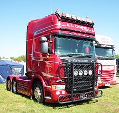 A.L. Campbell Scania R560 V9ALC Peterborough Truckfest 2018 (davidseall) Tags: al campbell scania vabis r560 v8 v9 truck lorry tractor unit artic large heavy goods vehicle lgv hgv peterborough truckfest show may alc v9alc 2018