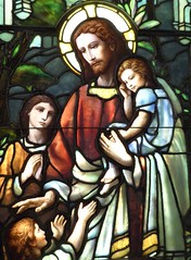 Evanston, IL, Halim Time and Glass Museum, Stained Glass Window (Mary Warren 10.8+ Million Views) Tags: evanstonil halimglassandtimemuseum art stainedglass glass jesus children