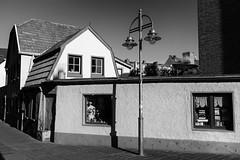 Tiny gallery (gambajo) Tags: 1year1town1lens brühl blackandwhite blackwhite black white public outdoors house street post lamp shadows contrast old windows wheelbarrow barrow small tiny x100s fujix100s fujifilmx100s