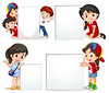 Icon Design Children holding white sign (Best Designer BD) Tags: isolated white clipping path object kid child young youth childhood student pupil character banner sign board blank empty border template design artistic writing text message girl boy illustration graphic picture clipart clip art background drawing image vector