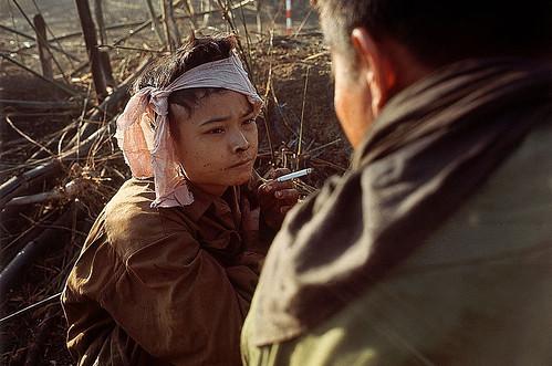 Vietnam War 1967 - Young Viet Cong Prisoner Smoking