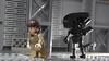 Xenomorph minifigure from Alien (hachiroku24) Tags: lego alien xenomorph minifigure moc movie instructions