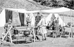 Whit Weekend , Barnard Castle , 2018 . (wayman2011) Tags: fujifilm1650f35f56 lightroomfujifilmxt10 wayman2011 bw mono rural tents people pennines dales teesdale barnardcastle countydurham uk