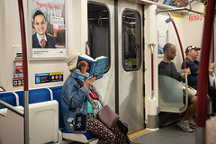 Bookworm (cookedphotos) Tags: 2018inpictures toronto ontario canada ca subway transit commute noraroberts book read author bookworm train urban 365project p3652018 streetphotography