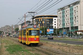 Belgrad 2707 auf der SL 11 an der Haltestelle Gandijeva, 26.05.2018