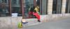 waiting for viewers (rafasmm) Tags: łódź lodz poland polska europe city street streetphoto people color waiting sadness clown streetlife streetart streetportrait streetphotography outdoor no show nikon d90 dslr sigma 1020 ex