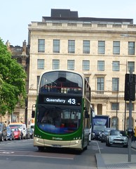 43 in front of 42 (St Andrew Square, Edinburgh). (calderwoodroy) Tags: eclipsegemini wrightbus b9tl volvo sn09cvs 931 theedinburghgrand 42standrewsquare edinburghtransport lothiancountry lothianbuses service43 doubledecker bus standrewsquare edinburgh scotland