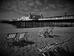 Archived Brighton! (springblossom3) Tags: brighton beach 2018 tourism vintage photo sea water deck chairs pier