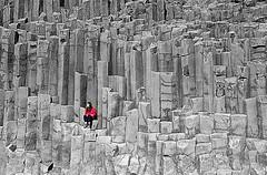 Rock texture (Helgi Skulason photographer) Tags: helgiskulason helgiskulasongmailcom iceland islande reynisfjara
