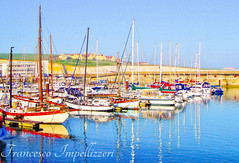 The Colours of the Port (Francesco Impellizzeri) Tags: brighton marina england port water reflections canon landscape boats ngc