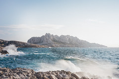 Callelongue. (Matthieu Robinet) Tags: calanques marseille provence sea escape ecume waterscape seascape blue deep mountain island alone fishingvillage spring classics wanderlust freshair dreamy atmosphere foggy cold windy mistral rocks original picoftheday pod shining breathe blow national park nature landscape