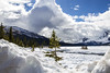 Banff National Park (Dailyville) Tags: bowlake banff national park canada snow ice could mountains tree dock outdoors ohiofoothills dailyville sky