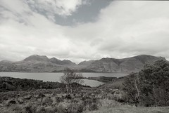 Annat, Scotland. (qasimhussayn) Tags: monochrome mono bw bnw blackandwhite black white grayscale clouds mountainscape mountains mountain scotland highlands torridon travel uk ngc landscape nature